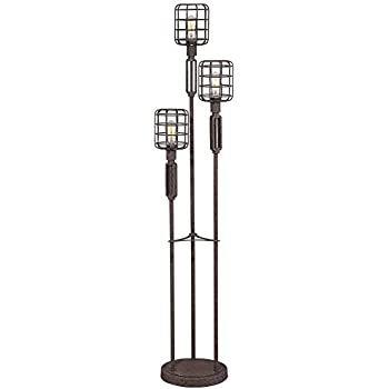 Industrial Cage Rust Metal Floor Lamp