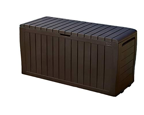 jnwd Resin Storage Bench Cabinet Large 71 Gallon Container Box Seat Waterproof Durable for Indoor Outdoor Garden Backyard Utility Room Furniture Weather Resistance & e-book by by jnwd