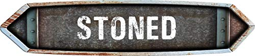 Stoned Designs (Any and All Graphics Vintage Weathered Looking Double Point Stoned 8
