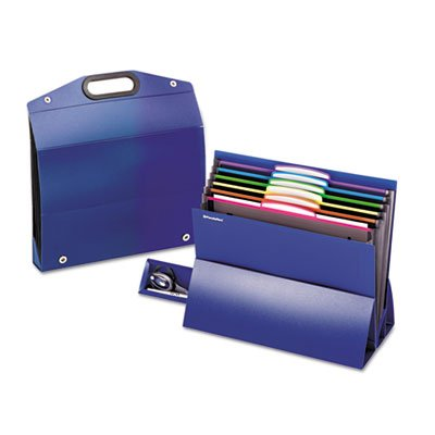 - On the Go Desktop Stadium Style File, Six Pockets, Poly, Letter, Blue, Sold as 1 Each
