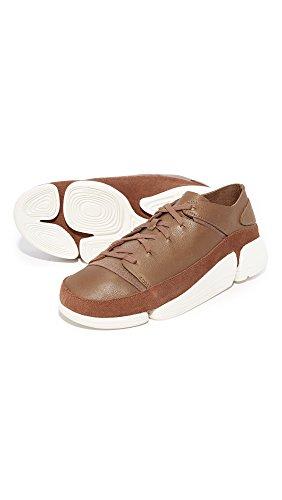 Clarks Hommes En Cuir Trigène Evo Sneakers Cola