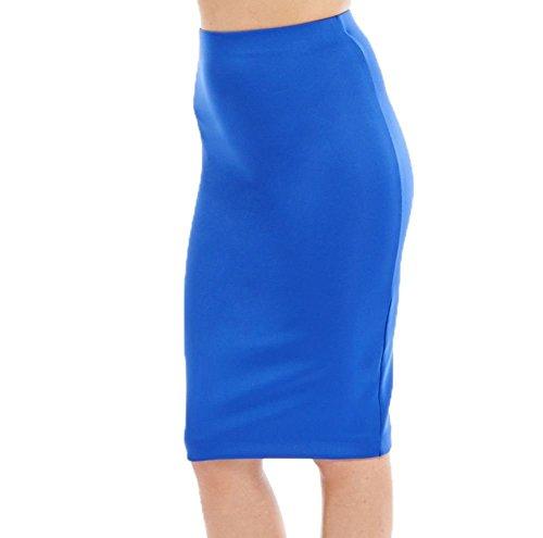 Señoras falda midi equipada - se extienden más tamaños disponibles Real