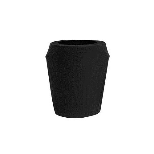 Kwik-Cover CANCVR-55gal-BLK 55-Gallon Kwik-Can Cover-Black Fitted Garbage Can Cover (1 full case of 50) by Kwik-Covers