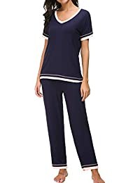 Pajama Sets Women Soft Sleepwear 2PCS Loungwear Pjs Top With Bottoms S-XXL be9fee1a9