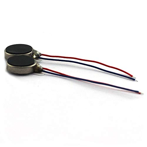 Pager Cell Phone Mobile Coin Flat Vibrating Micro Motor 10x2.7mm Pack of 2