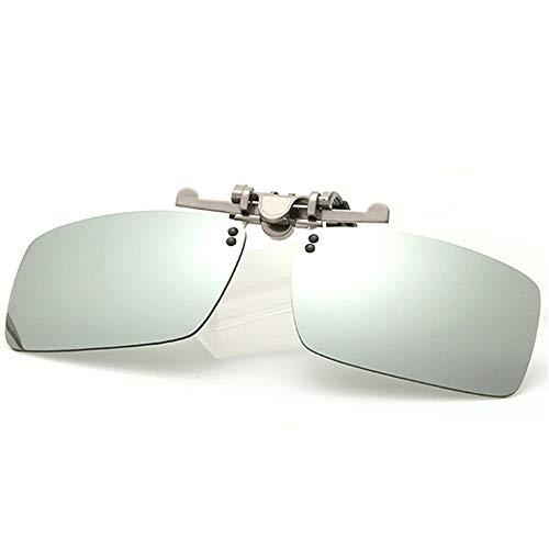 magnesio conducción la de B Aluminio al con Puede se de de de polarizadas Color miopía película Sol Espejo Voltear KOMNY Clips la B La Gafas de y revés de película gq0nwF