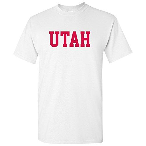 (Utah Utes Block Basic T-Shirt - Large - White)