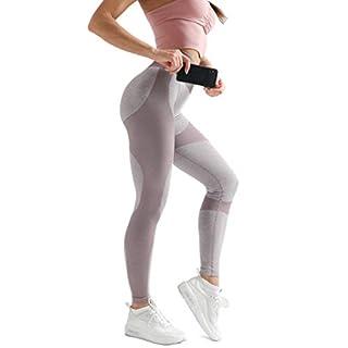 Women's High Waist Yoga Leggings Workout Seamless Pants Butt Lift Tights Khaki