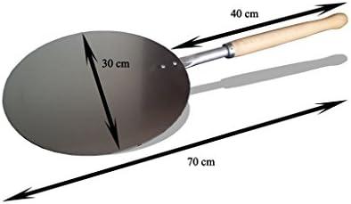 Pala de aluminio para pizza forma redonda diámetro: 30 cm, mango ...