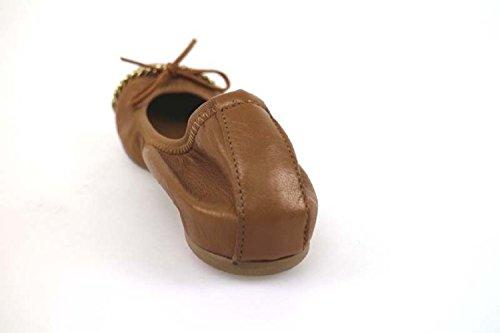 Chaussures Femme CROWN ballerines chamois cuir AP940