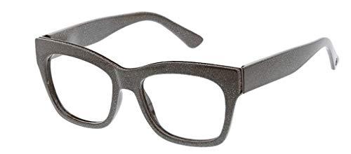 (Peepers Women's Shine On - Blue Light Filtering Reading Glasses 2544100 Square Reading Glasses, Brown, 1, 53 mm)