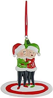 2021 Funny Personalized Christmas Ornament Reindeer Family of 2 3 4 5 6 7 8 Cute Elk Deer Christmas Tree Penda