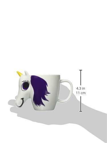 Thumbs Up UK Unicorn Color Changing 10 oz Ceramic Coffee Mug 9