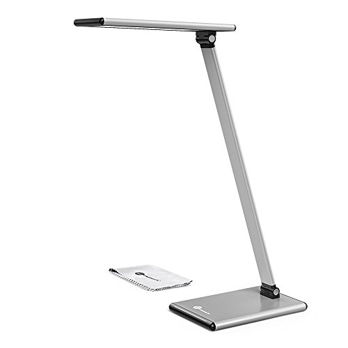 TaoTronics Fully Touch-Enabled LED Desk Lamp ( No Buttons Table Lamps For Bedrooms, Aircraft-grade Aluminum Alloy,Stylish Metal Desk Light, Multiple Color Temperatures Lamps For Living Room )