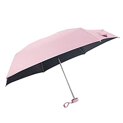 LiboboFlat Lightweight Umbrella Parasol Portable Folding Sun Umbrella Mini Umbrella (Pink): Health & Personal Care