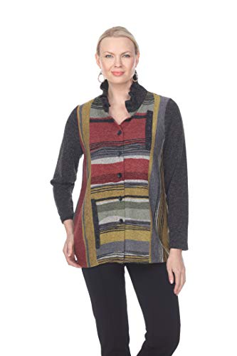 - Terra-Sj Apparel Women's Printed Jacket with Convertible Collar