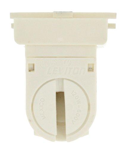 Leviton 13654-EXS T-8 to T-5 Bi-Pin Adaptor, Standard Fluorescent Lampholder, White