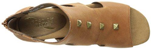 Aerosoles Sandalias de cuña de canastilla de la mujer Dk Tan