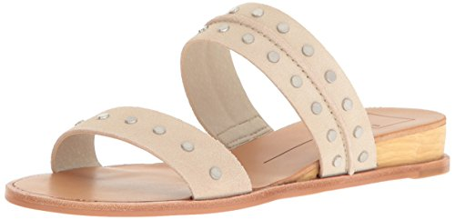 Dolce Vita Women's 119868-Pacey-Taupe Flat Sandal, Sand Suede Sand Suede
