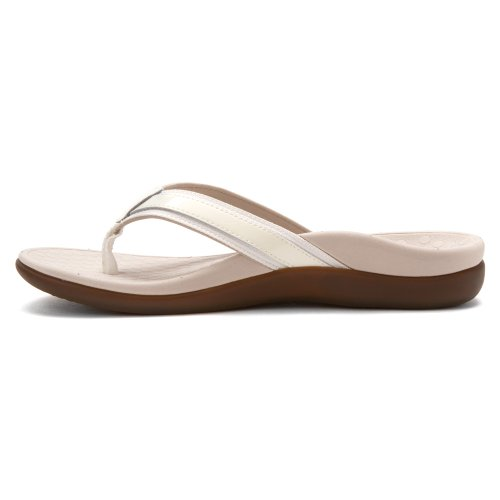 VIONIC Womens IN44 Islander Leather Sandals Blanco