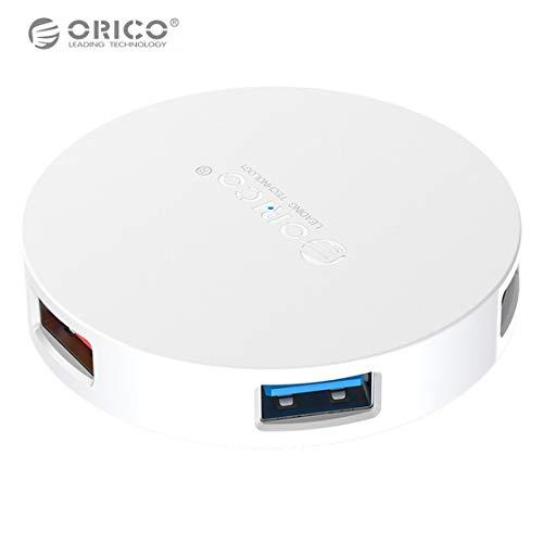 Exiao ORICO HA4U-U3-BK 4 Ports USB HUB Portable OTG HUB High Speed USB3.0 Splitter with LED Lamp for Laptop PC Tablet