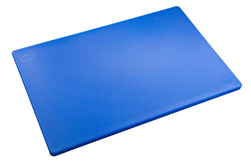 Professional Plastic Blue Cutting Board, HDPE Poly for Restaurants, Dishwasher Safe and BPA Free (18 x 12 x 1/2 Inch) ()