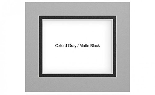Savage 5 Pack Double 5x7 in Mat to Hold 3.5x5 in Print - Gray/Black 5462469