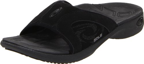 Sandal Sole Half - SOLE Women's Sports Slides, Raven, 9 B (M) US