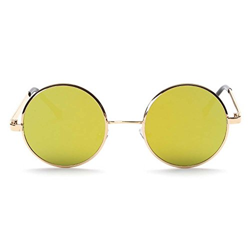 My.Monkey 2016 New Fashion Retro Metal Frame Reflective Lens Round - Where Locs To Buy Sunglasses