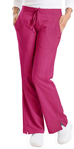 (healing hands Purple Label Women's Taylor 9095 2 Pocket Drawstring Scrub Pant Bright Rose- 2X-Large)