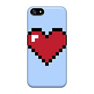 Hot IKq34462IzDb Pixel Heart Cases Covers Compatible With Iphone 5/5s