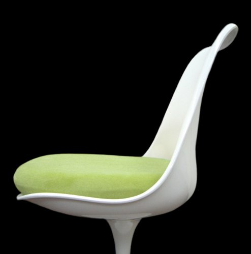 Slip-on Cushion Cover for Saarinen Tulip Side Chair (Lime)