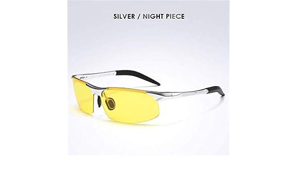 APJJ HD polarizado Gafas Anti-Brillo Anti-Alta viga Profesional Gafas de conducción para el día y la Noche (versión de actualización),Silver: Amazon.es: ...