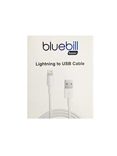 Bluebill-basic-Apple-Premium-Quality-iPhone-Charging-Cable-For-5-5c-5S-6-iPad-Mini-iPod-Touch-5G-new-iPad-and-iPad-Air1-Meter-USB-20-Data-Sync-Cablewhite-1-Year-Warranty-with-Bluebill-Basic