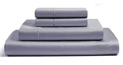 Chateau Home Collection 800 Thread Count 100 Egyptian Cotton Sheets Set Deep Pocket 100 Cotton Sheets Pillowcases Set Best Bed Sheets Soft Sateen Weave Combed Cotton King Sheet Set Charcoal