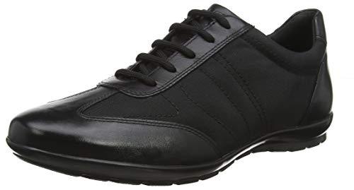 Geox Men's Symbol 28 Sneaker, Black Oxford, 40 Medium EU (7-7.5 US)