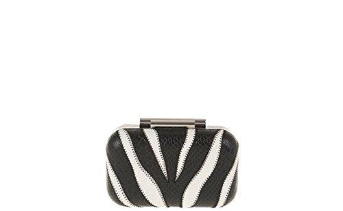 Parfois - Clutch - Bolso De Fiesta Zebra - Mujeres - Tallas M - Negro: Amazon.es: Zapatos y complementos