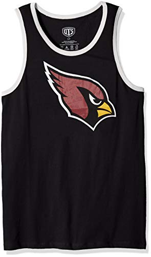NFL Arizona Cardinals Male NFL OTS Cotton Tank Distressed, Jet Black, XX-Large ()