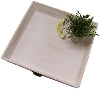 Calishia Large White Decorative Tray Wood Tray For Coffee Table
