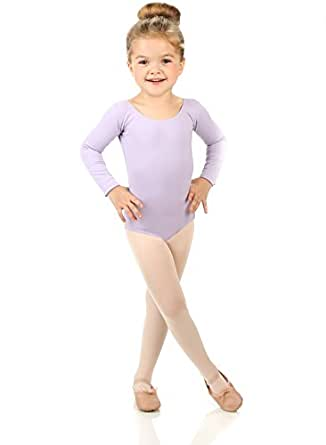 Elowel Girls' Team Basics Long Sleeve Leotard Lavender (size 2-4 )