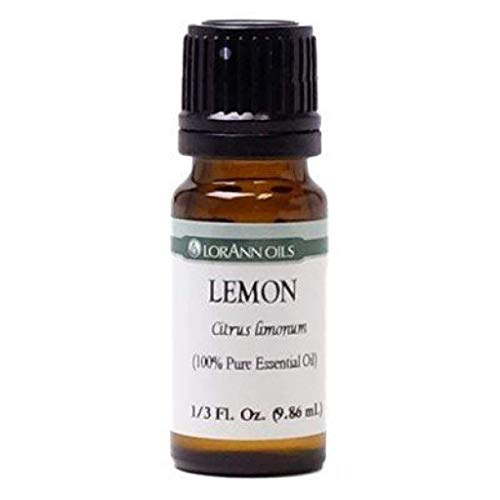 LorAnn Oils Lemon Natural and Pure Essential Oil, 1/3 oz