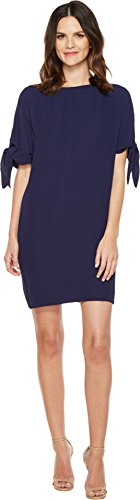 vince-camuto-womens-crepe-knotted-sleeve-shift-dress-navy-dress