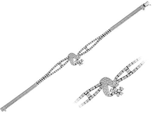 Birgie Diamants et Bijoux - Bracelet Diamants-Femme- or Blanc 201B0016