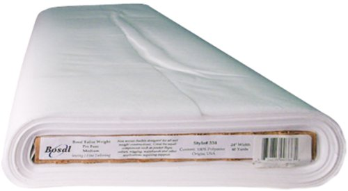 Bosal Pro Fuse Tailor Weight Interfacing, 24-Inch by 40-Yard, White by Bosal