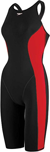 Speedo PowerPLUS Kneeskin Female Black/True Red 26 - Fina Approved Swimwear