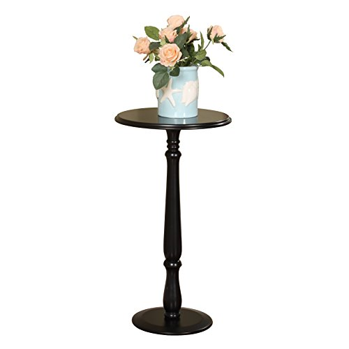 Pilaster Designs - Plant Stand Accent Side End Table, Black Finish by Pilaster Designs