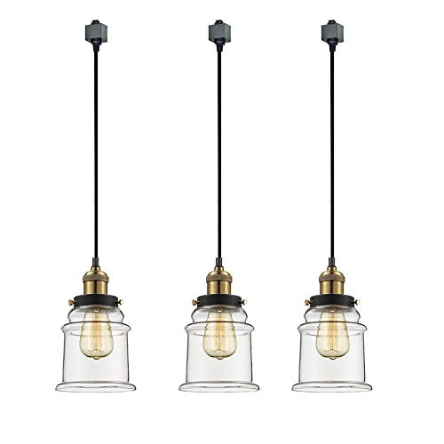 Clear Glass Pendant Track Lighting in US - 3