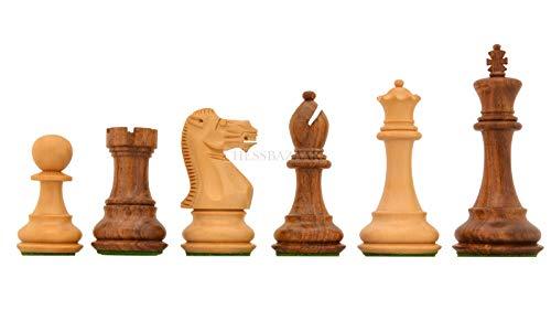 (Desert Gold Staunton Series Wooden Chess Pieces in Sheesham & Box Wood - 4.0