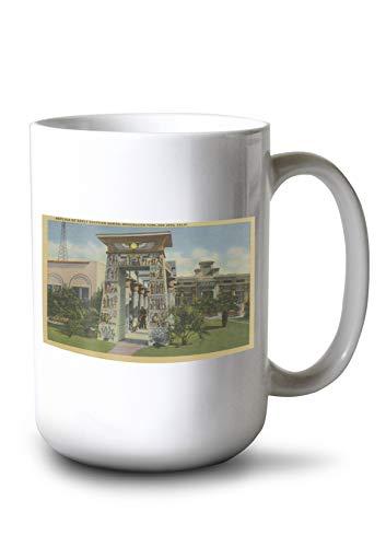 Lantern Press San Jose, CA - Replica of Egyptian Shrine, Rosicrucian Park (15oz White Ceramic Mug)