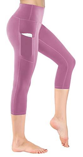 HOFI Women's High Waist Capri Yoga Pants with Side Pockets & Inner Pocket